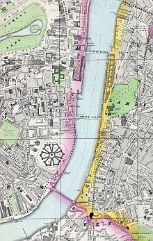 Preview of Bacon's Large Scale Ordnance Survey Of London And Suburbs c1880