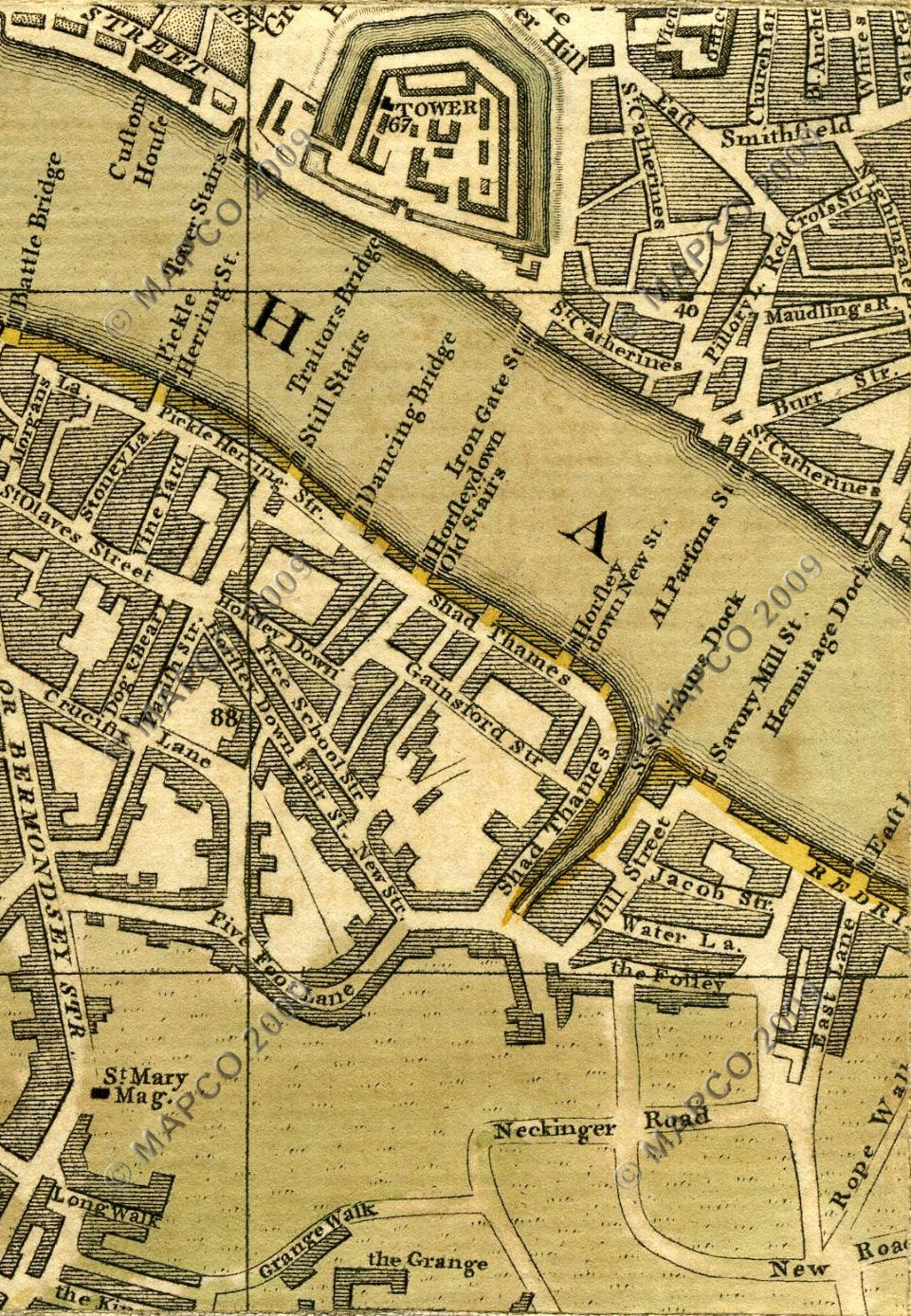 MAPCO Map And Plan Collection Online : Bowles's Reduced Plan
