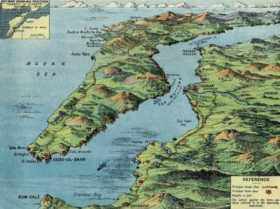 MAPCO Map And Plan Collection Online : The Gallipoli Peninsula And