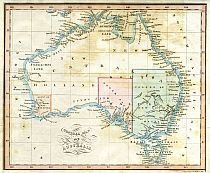 Cross's General Map Of Australia 1836