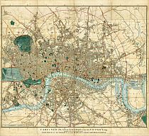Cary's New Plan Of London And Its Vicinity 1837