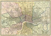 Cross's New Plan Of London 1861