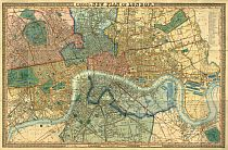 Map Of London 1850. Cross's New Plan Of London 1850 @ london1850.com