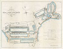 Plan Of The East & West India Docks 1841