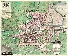 Modern Plan Of The City And Environs Of Dublin 1798