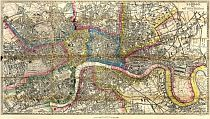 Kelly's Post Office Directory Map Of London 1857