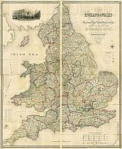Lewis's Map Of England And Wales c1840