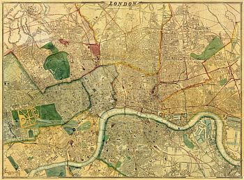 Map Of London 1868, By Edward Weller, F.R.G.S