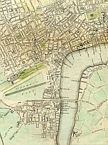 A Plan Of The Cities Of London And Westminster, And Borough Of Southwark. Engraved for Noorthouck's History of London 1772
