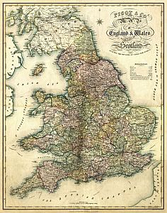 Pigot & Co.'s New Map Of England & Wales 1840