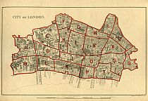 Stanford's School Board Map - City Of London Division 1877