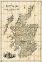 Lewis's Map Of Scotland c1840