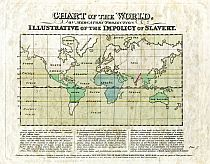 Chart Of The World, On Mercator's Projection, Illustrative Of The Impolicy Of Slavery c1824