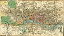 Smith's New Map Of London c1828
