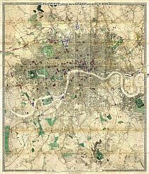 Stanford�s Library Map Of London And Its Suburbs 1864; Showing All The Proposed Metropolitan Railways and Improvements.