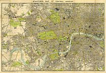 Stanford's Map Of Central London 1897