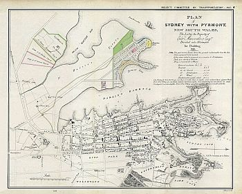 Plan Of Sydney With Pyrmont, New South Wales, 1836