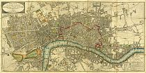 Wallis's Plan of the Cities of London and Westminster 1801