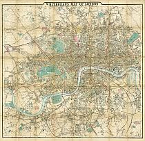 Whitbread's Map Of London 1865