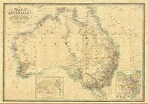 Wyld's Map of Australia c1863