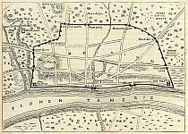 Plan of Roman London - Post AD190