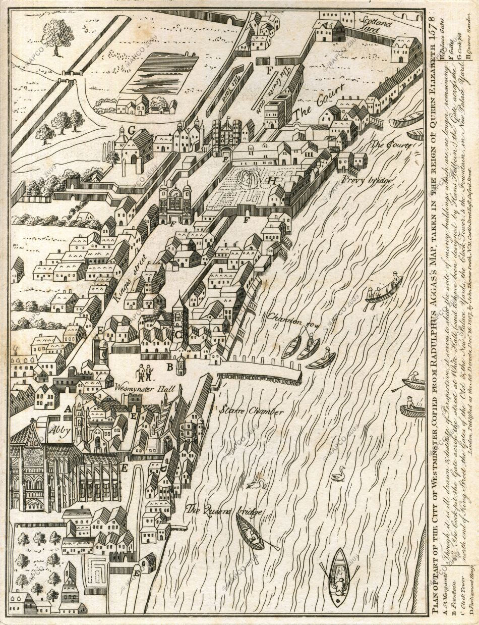 Plan Of Part Of The City Of Westminster 1578