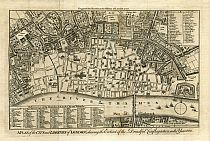 A Plan of the City and Liberties of London, Shewing the Extent of the Dreadful Conflagration in the Year 1666