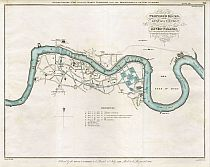 Plan Of The Proposed Docks And The Line Of A Canal With A Collateral Cut On The Surrey Side Of The River Thames 1799
