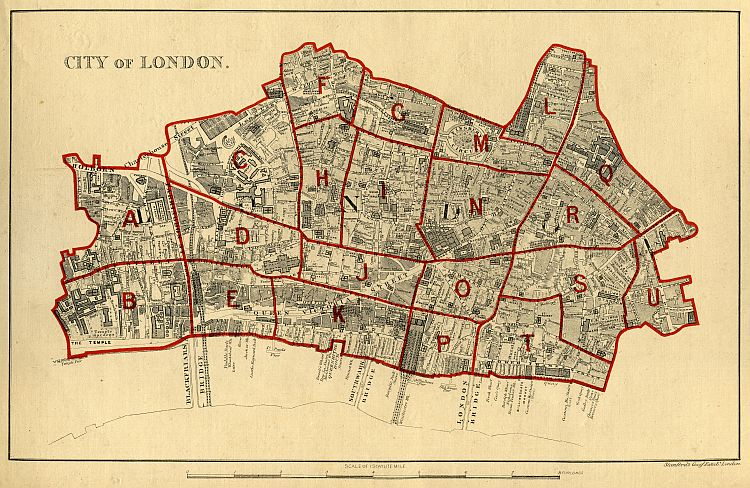 MAPCO Map And Plan Collection Online Stanfords School Board Map – London City Map