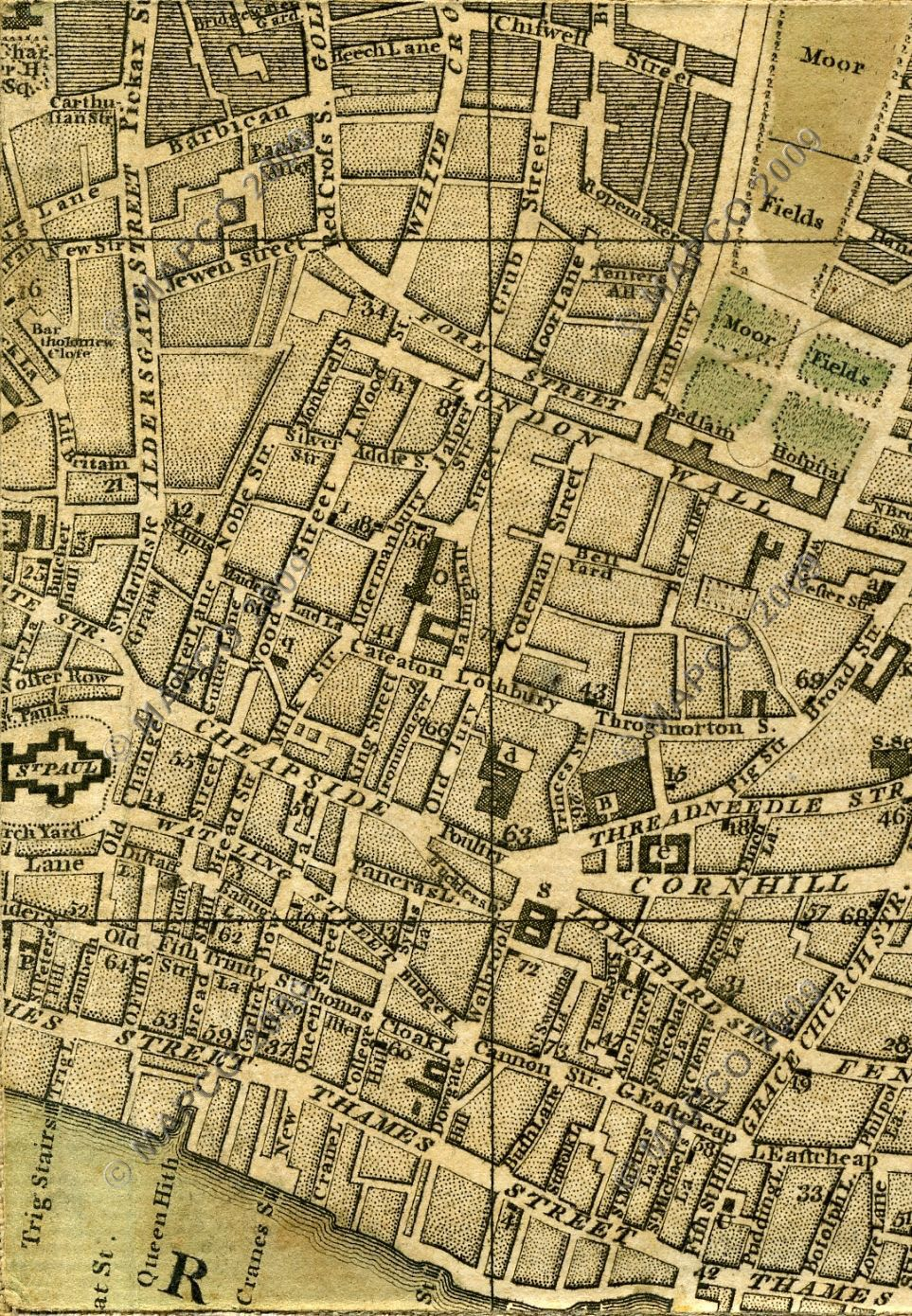 Old Street London Map.Mapco Map And Plan Collection Online Bowles S Reduced Plan Of